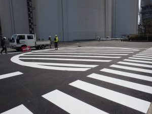A工場内区画線工事 施工後