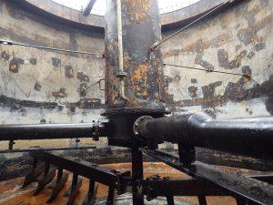 タンク内部のライニング塗装 施工前