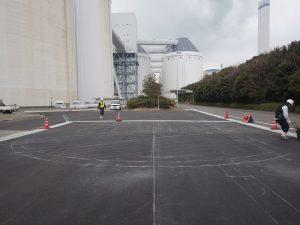 A工場内区画線工事 施工前