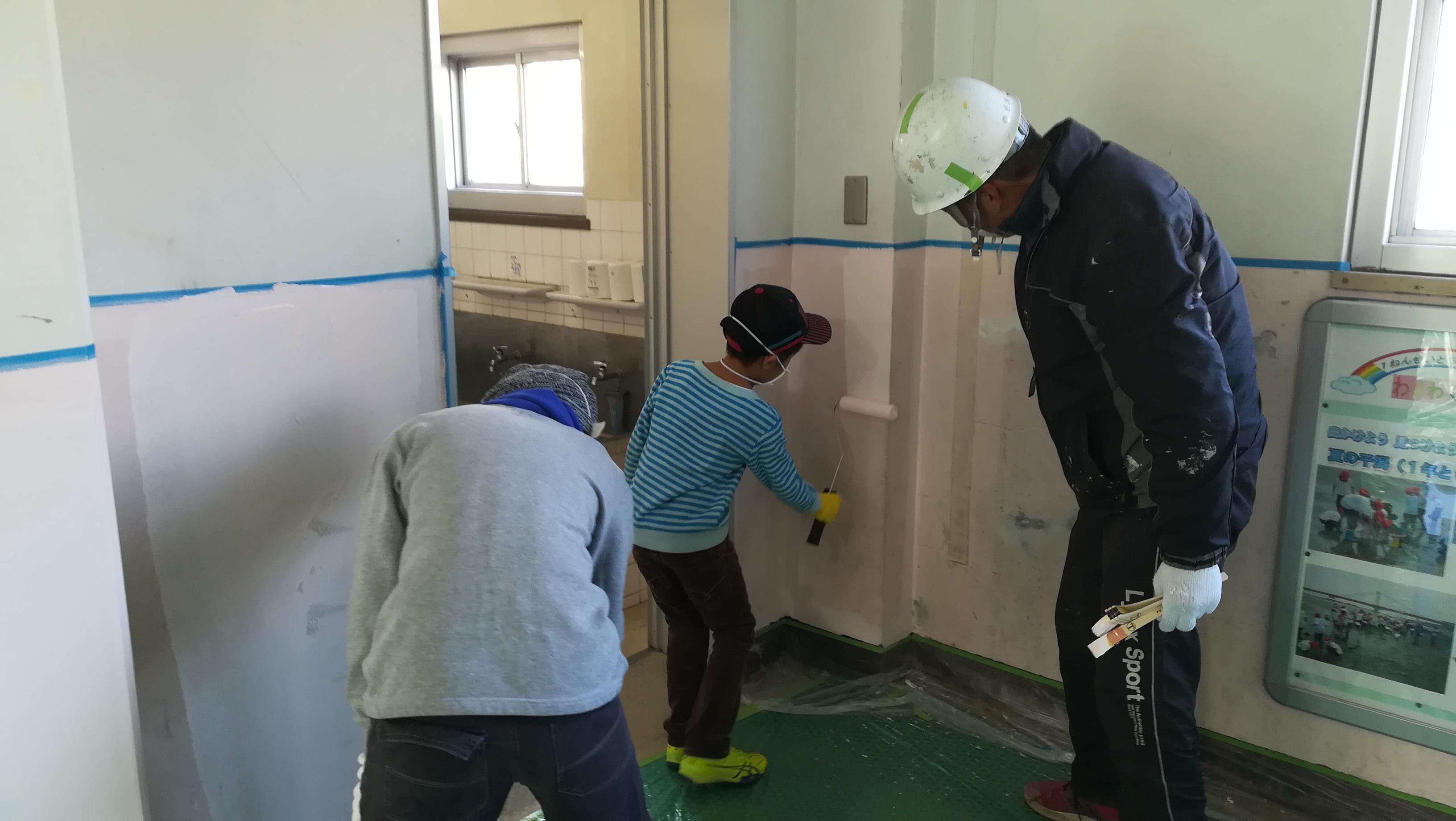ボランティア塗装2