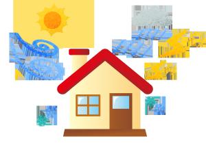 天気にさらされる家